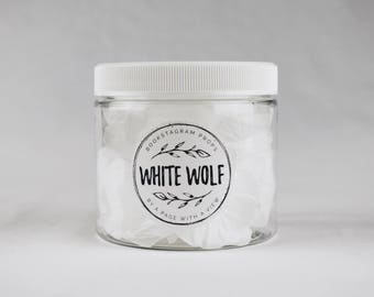 The White Wolf: bookstagram prop flower petals (white) 16oz