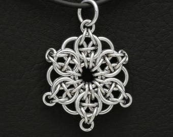 Celtic Star Chainmaille Necklace