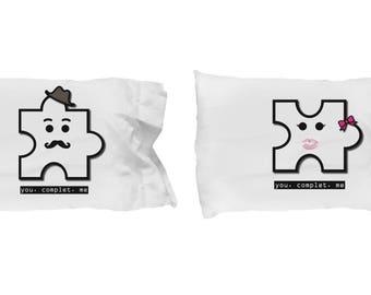 Puzzle Pillow Case | Couple Pillow Case | Pillow Case Couples | Pillow Case His and Her | Couple Matching Pillow Cases | Pillowcase Gift