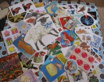 big miscellaneous sticker lot 120 pieces!! Lot B