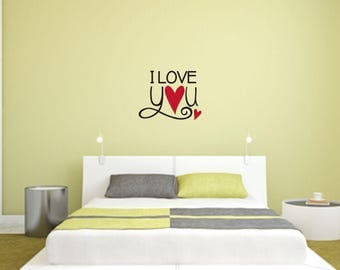 I Love You Multi-Colored Home and Family Vinyl Wall Quote