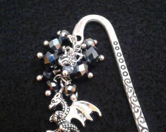 Dragon crystal bead bookmark