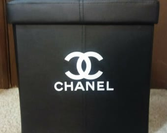 Chanel inspired sit and store ottoman