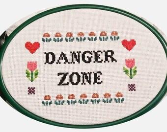 Archer Cross Stitch - DANGER ZONE