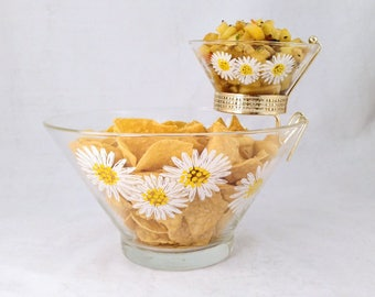 Anchor Hocking Chips and Dip Set, Daisy Pattern
