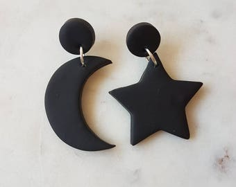 Stars and Moon Dangles