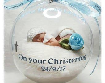 Handmade  Christening/Baptism Globe