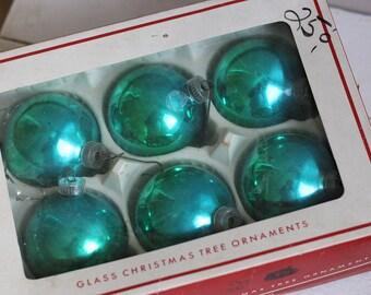 Glass Christmas Balls, Vintage Christmas Tree Ornaments,