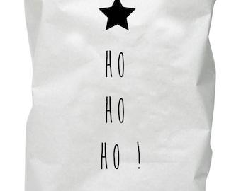 Storage in kraft paper - paperbag - nice hood for Santa to put on the tree! customizable