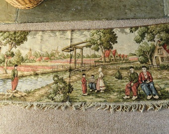 Large Antique Vintage Tapestry Wall Hanging Possibly Dutch