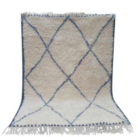 Moroccan Rug Beni Ourain Handmade 100% Wool Rug Berber Rug 55