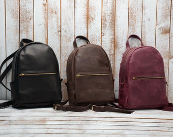 Leather Backpack, women leather backpack,  leather rucksack, leather bag, leather backpack women, Sac à dos en cuir. sac à dos . Purse