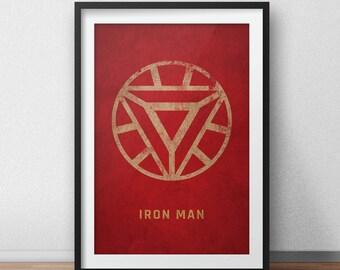 Iron Man Art Print, Avengers Poster, Iron Man Poster, Marvel Comics, Movie Poster, Minimalist