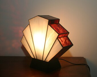 Lamp Art Deco stained glass Tiffany Flabellum Edirne