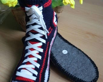 Christmas and New Year, Sneakers, MenShoes, Slippers, CrochetShoes