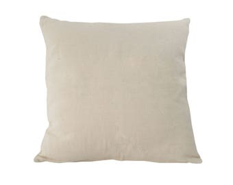 Cushion cover natural white, 100% cotton, 50x50cm