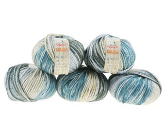 5 x 100 g yarn TULISA, #03-seabed