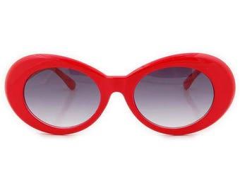 Red Kurt Cobain Style Sunglasses