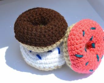 Crochet Donut Baby Rattle