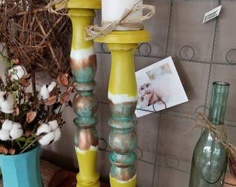 Pillar Candle Stick Holders set of 2
