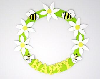 Bee Happy Wreath