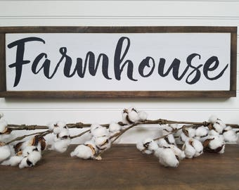 Farmhouse Sign - FARMHOUSE - Wood Signs - Wooden Signs - Farmhouse Signs - Rustic Signs - Farmhouse Decor