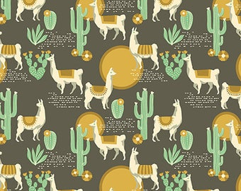Lingering Llamas Tusco from Florabelle collection 112cm wide x 25cm