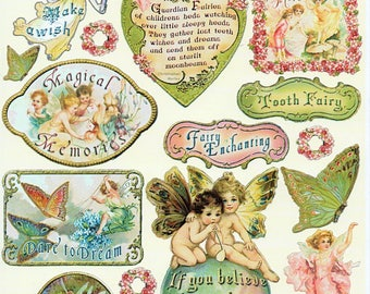 Fairy Enchanting Heartwarming Vintage Stickers Crafty Secrets Scrapbook Embellishments Card Making