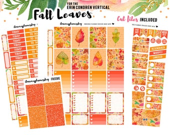 Printable Planner Stickers for Erin Condren, Weekly Kit Printable, Fall Planner Stickers, October Planner Stickers, Silhouette Cut Files