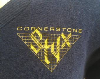 Vtg 80s Styx sweatshirt