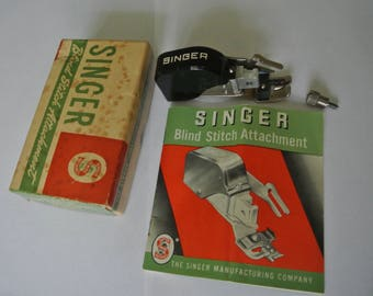 Singer Blind Stitch attachment 160616 Including INSTRUCTION MANUAL