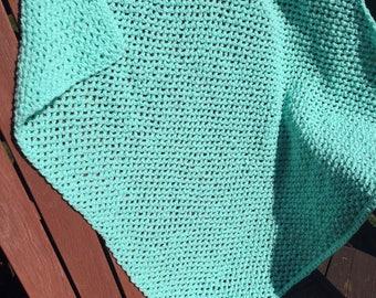 Mint Mesh Crochet Baby Blanket, Mesh Crochet, Blanket, Mint Blanket