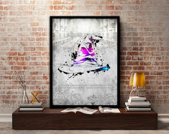 The Sorting Hat, Poster, Print, Harry Potter, Gift For Him,Gift, Hogwarts, Gift for her, Wizard, Gryffindor,Ravenclaw,Hufflepuff, Slytherin