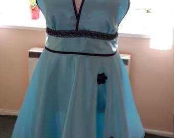 Handmade dress satin