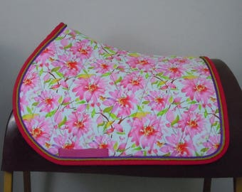 Floral Print All Purpose English Saddle Pad READY TO SHIP