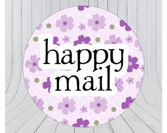 Happy mail stickers, Mail stickers, packaging stickers, delivery stickers, 102