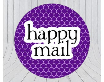 Happy mail stickers, Mail stickers, packaging stickers, delivery stickers, 104