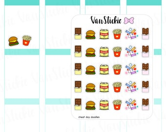 Doodle Set - Cheat Day Planner Stickers | VSD 038