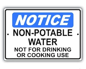 Non-Portable Water Aluminum Sign