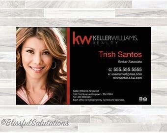 Keller Williams - Real Estate Agent - Broker - Realtor - Business Cards - Digital Download - Order yours now!