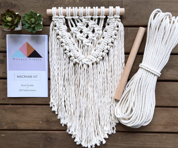 macrame wall hanging kit diy kit macrame kit make your own macrame from 676