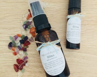 Natural Therapeutic Perfume Oil • Crystal Infused