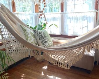 outdoor hammock  luxury woven hand woven  soft hand woven hammock   etsy  rh   etsy