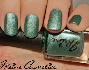 Sea Metal - Green Metallic Matte Nail Polish