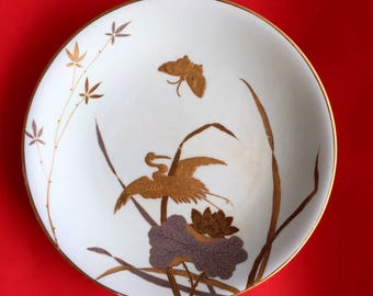 A Pale Green and Gold Thomas Goode Plate