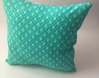 Turquoise Pillow, Throw Pillow Cover, Cushion Cover, Home Decor, 18 x 18 inches
