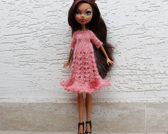 Monster High Doll Dress, Doll Clothes 12 inch, Doll fashion, Ever After High Doll Clothing, Handmade doll clothes, MH knit dress, EAH knit
