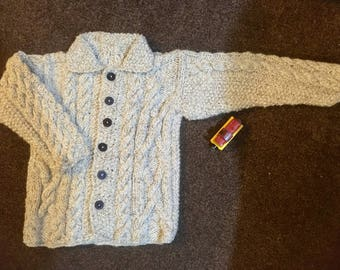 Cabled boys cardigan