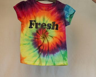 Size 2  - Fresh - Ready To Ship - Girls - Children - Kids - Iced Tie Dyed T-shirt - 100% Cotton - FREE SHIPPING within Aus