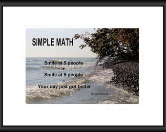 Simple Math, Photography, Free Shipping, Print, Framed Print, Canvas Wrap, Canvas with Floating Framed, Wall Art, Home Decor, Inspiration